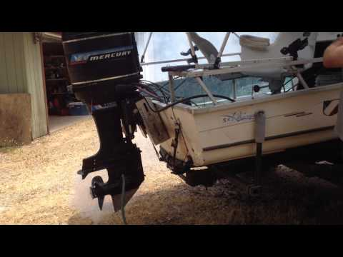 19' Ski-Barge Main (115 hp Mercury) Start, run and shift.