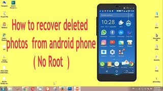 how to recover deleted pictures from android phone no root  english  malayalam