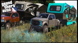 GTA 5 ROLEPLAY - TAKING NEW TOY HAULER CAMPING!! - EP. 987 - AFG - CIV
