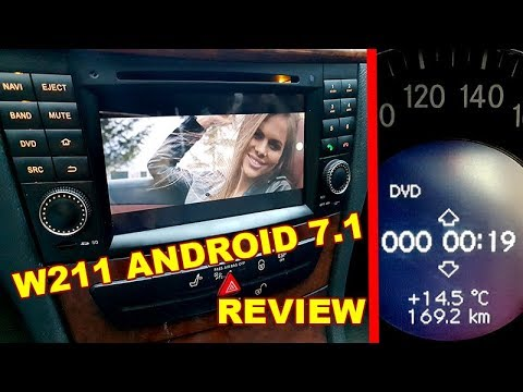 review and sound test mercedes w211 android 7 1 dvd radio. Black Bedroom Furniture Sets. Home Design Ideas