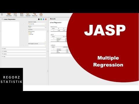 JASP Tutorial (deutsch): Multiple Regression Mit Prüfung Regressionsvoraussetzungen