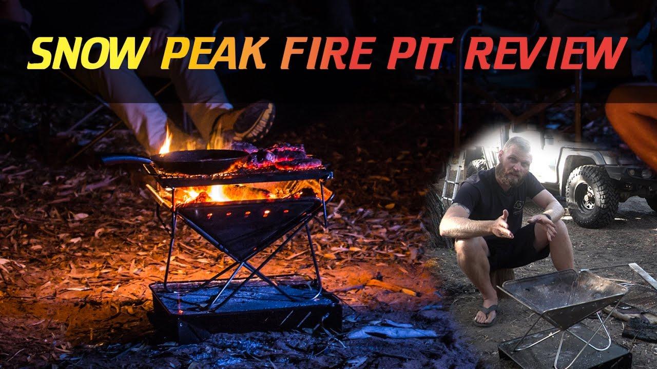 snow peak fire pit review