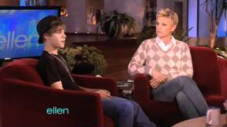 Justin Bieber on Ellen (Sings Teenage Dream, Talks About Bullying & Teaches Her How To Dougie)