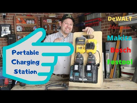 Portable Charger Station (Perfect for the Remodeling Contractor) Milwaukee,DeWALT,Makita,Bosch
