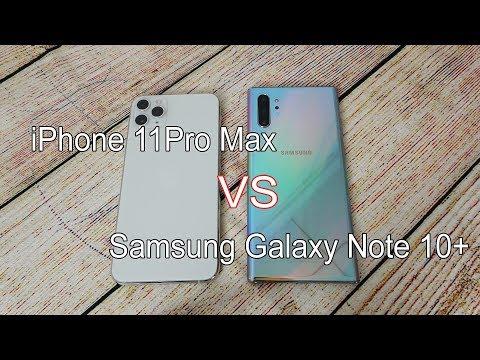 Apple IPhone 11 Pro Max Vs Samsung Galaxy Note 10 Plus | SpeedTest And Camera Comparison