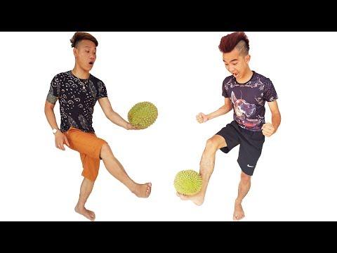 PHD | Thử Thách Đá Bóng Bằng Quả Sầu Riêng | Durian Ball
