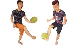 PHD   Thử Thách Đá Bóng Bằng Quả Sầu Riêng   Durian Ball