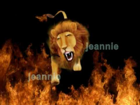 Lion jump fire -modelling,rigging,animation.