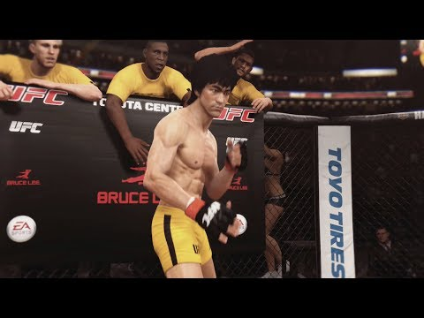 Thumbnail: EA UFC (PS4): Bruce Lee vs Urijah Faber (Featherweight) 5 Rounds - Toyota Center