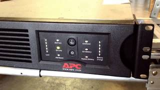 Testing an APC Smart-UPS 2200 battery backup device