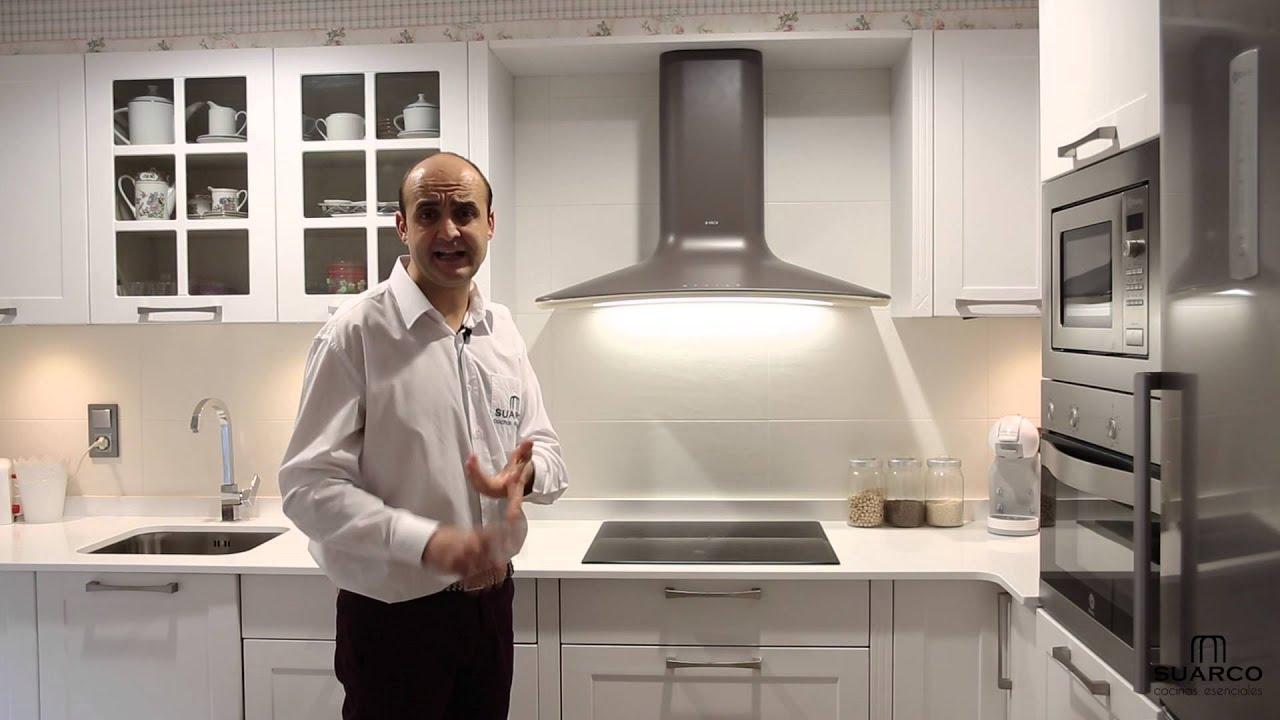 Cocinas peque as modernas rusticas blancas con encimera for Cocinas blancas pequenas