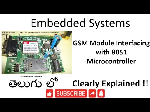 [ES-TE-30] GSM Module Interfacing with 8051 Microcontroller -lesson -30