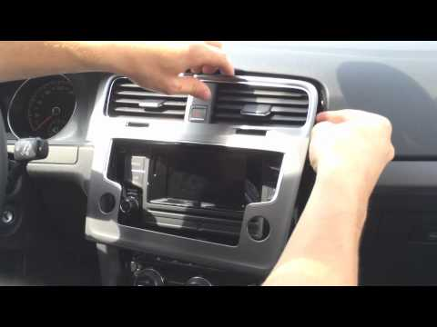 Golf 7 Radio ausbauen / Navi nachrüsten VW Golf MK7 Rabbit Radio extension