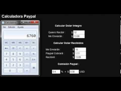 Calculadora Dólares Paypal Chile