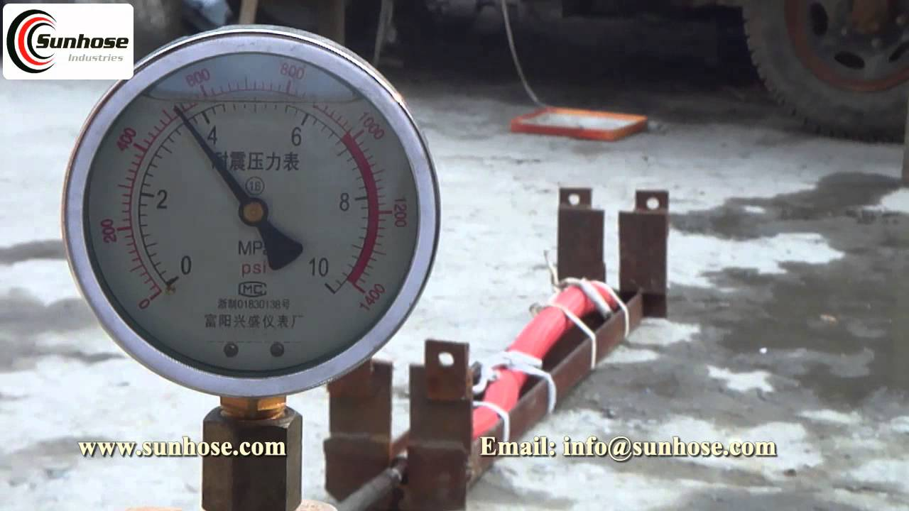 Testing The Burst Pressure Of Lay Flat Pvc Water Discharge