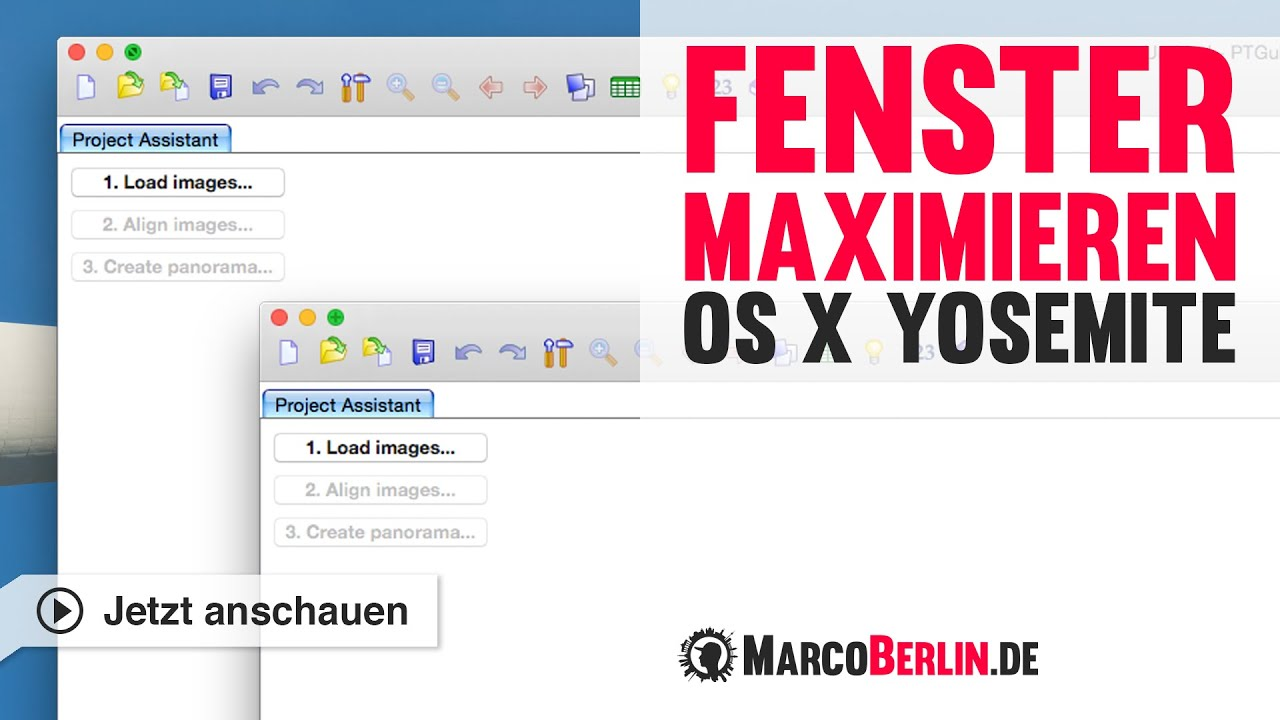 Fenster maximieren in mac os x yosemite youtube for Fenster yosemite