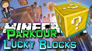 Minecraft: Lucky Block Parkour Battle w/Mitch & Jerome!