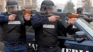 Jandarmeria blochează accesul pe un drum public (Siliştea)