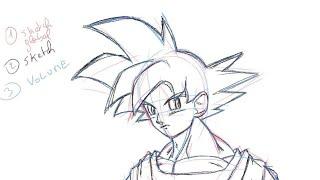 Comment dessiner Son Goku facilement - DB Super