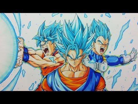 Drawing VEGITO | Goku & Vegeta FUSION | Dragonball Super | TolgArt