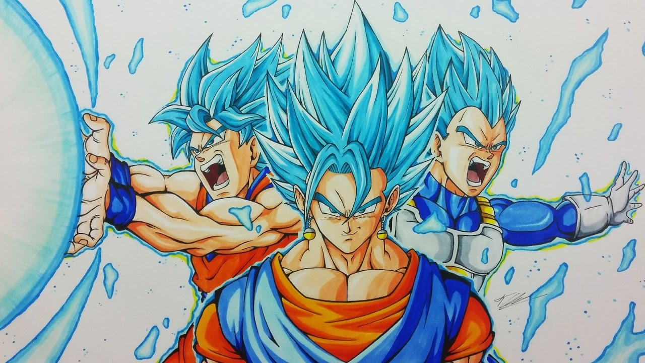 Drawing Vegito Goku Vegeta Fusion Dragonball Super Tolgart
