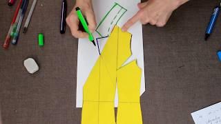 моделируем драпировки и запАх в платье