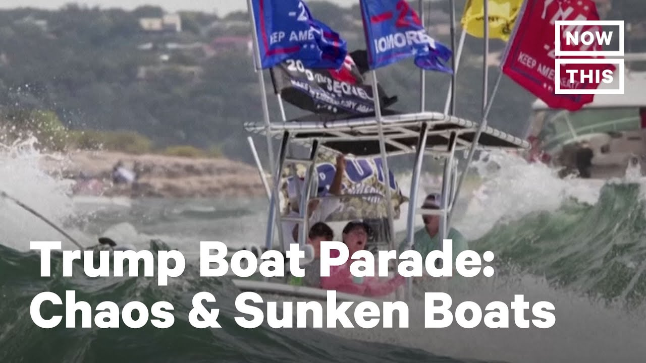 5 Boats Sink At Trump Boat Parade 2020 Nowthis Youtube