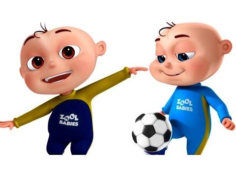 Five Little Babies Playing Soccer (FootBall) Videogyan 3D Rhymes