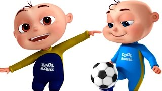 Five Little Babies Playing Soccer (FootBall) | Videogyan 3D Rhymes  | Cartoon Animation For Kids