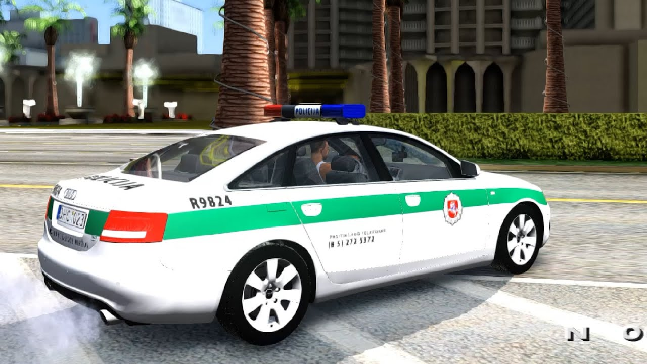 Cars 30k >> Audi A6 C6 Lithuanian Police - GTA San Andreas - YouTube