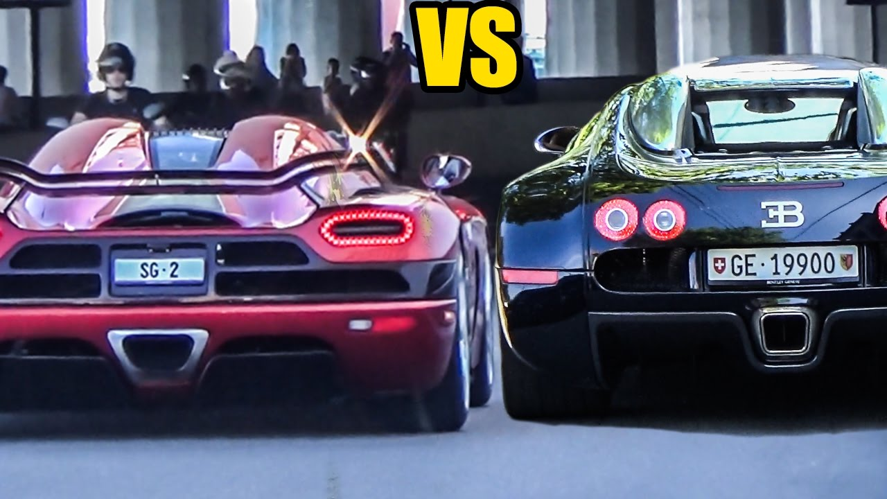 koenigsegg agera r vs bugatti veyron sound battle youtube. Black Bedroom Furniture Sets. Home Design Ideas