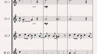 All I Want for Christmas is You - Clarinet Quartet - ♪ Sheet Music ♪