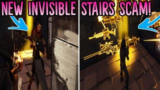 *NEW SCAM* The Invisible Stair Scam! (Scammer Gets Scammed) Fortnite Save The World