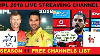 IPL 2018 LIVE STREAMING CHANNELS AND MOBILE APP 2018 STAR SPORTS LIVE