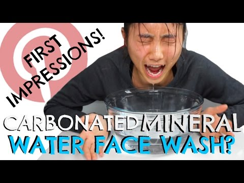 Pinterest Hack Tested-  Carbonated Water Face Wash?