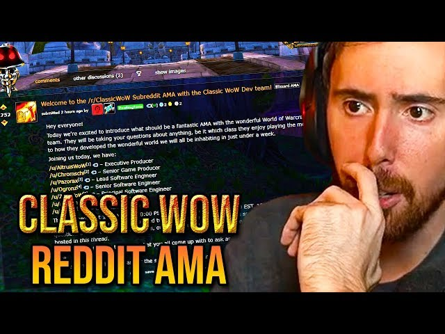 Asmongold Reacts To The Classic WoW Dev Team Reddit AMA/Q&A