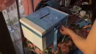 Оформление свадебной коробки для подарочных конвертов