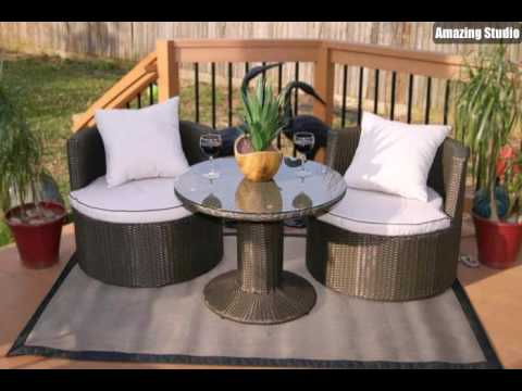 loungem bel f r balkon klein rund youtube. Black Bedroom Furniture Sets. Home Design Ideas