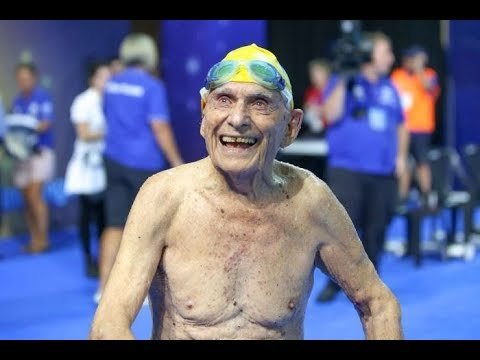 99 Year Old Swimmer Breaks 50m Freestyle World Record at Gold Coast trials