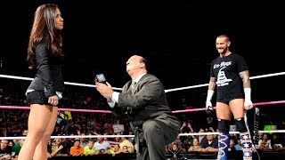 Paul Heyman calls out a WWE referee then proposes to AJ Lee: Raw, Sept, 24, 2012