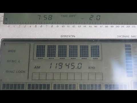 NHK WORLD RADIO JAPAN [ISSOUDUN, 250 KW] — 11945 KHZ — [1 DEC. 2017 18.58 UTC]
