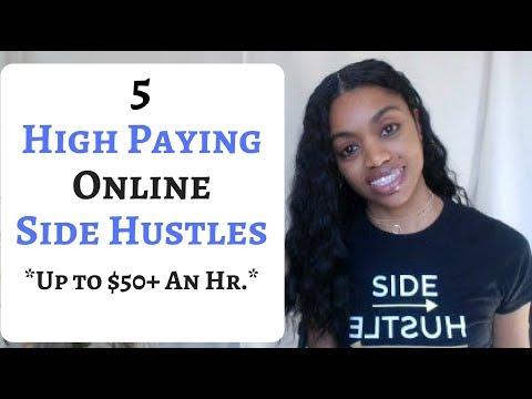 5 HIGH PAYING Online SIDE HUSTLES.
