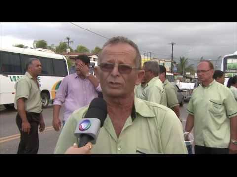 JE 2º edição - Motoristas de cooperativa de transporte intermunicipal realizam protesto em rodovia