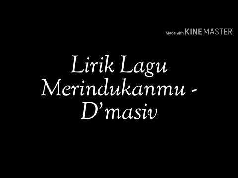 Lirik Lagu Merindukanmu - D'Masiv (Acoustic Cover)