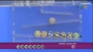 Resultado da Lotofácil concurso 1014 dia 03/02/2014 (Momento da Sorte - RedeTV)