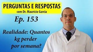 Quantos kg perder por semana - Perguntas e respostas com Dr Mauricio Garcia ep 153