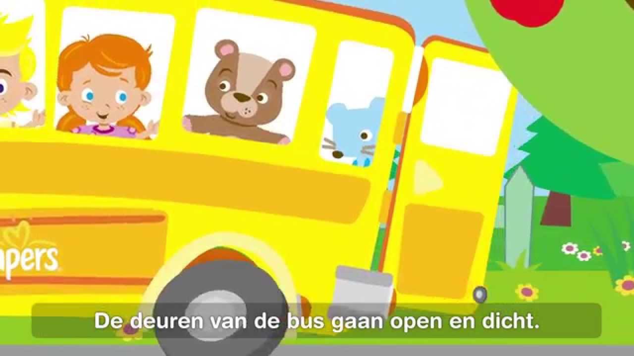 De Wielen Van De Bus Kinderliedjes Met Tekst Youtube