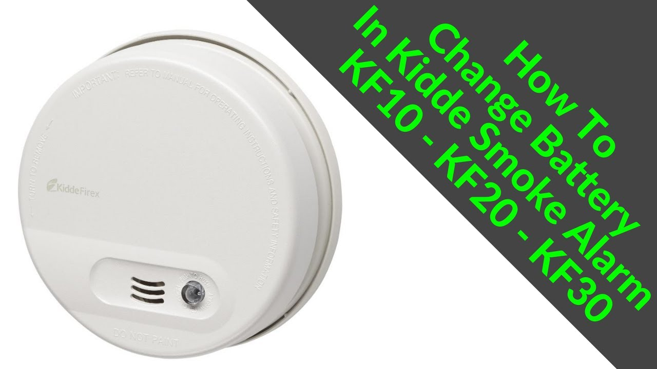 How To Change Battery In Kidde Smoke Alarm Kf10 Kf20 Kf30 Fix Beeping Smoke Alarm Problem Youtube