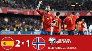 ESPANHA 2 X 1 NORUEGA - MELHORES MOMENTOS - ELIMINATÓRIAS EUROCOPA (23/03/2019)