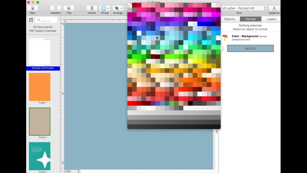 Format Pdf Change Page Background Color Using Pdf Author For Mac